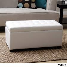 White Leather Storage Ottoman Warehouse Of Malm Storage Bench Malm Storage Benches