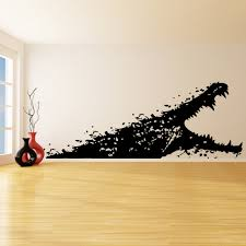 vinyl wall decal alligator with open mouth sea creature zoom