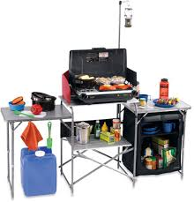 kitchen portable kitchen pantry with folding system for outdoor