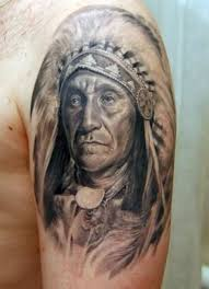 native american old warrior tattoo on shoulder tattoos