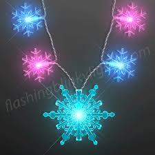 snowflake string of lights jumbo snowflake string lights necklace at flashingblinkylights com