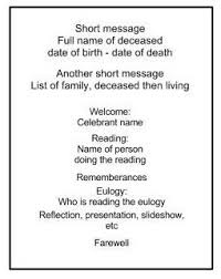 Funeral Service Announcement Wording Best 25 Memorial Service Program Ideas On Pinterest Funeral