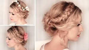photo prom hairstyles updos braided updo hairstyle for mediumlong