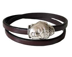 bracelet silver leather images Chak wraps buddha infinity silver leather bracelet live aha png