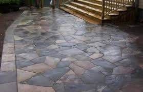 Dry Laid Flagstone Patio Install A Flagstone Patio Quickly And Easily