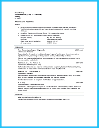 Maintenance Skills For Resume Writing Your Great Automotive Technician Resume
