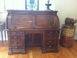 Roll Top Antique Desk Walnut Roll Top Desk Collectors Weekly