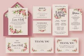 wedding invitations floral floral wedding invitation suite invitation templates creative