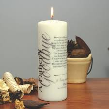 memorial candle a s goodbye personalized memorial candle