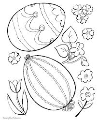 easter flower print vintage coloring pages