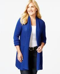 inc international concepts plus size sequined drape front cardigan