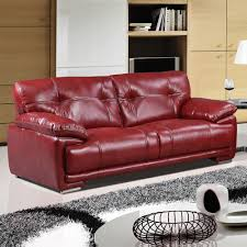 100 Real Leather Sofas Leathaire 100 Real Leather Alternative Red Fabric Sofa Collection