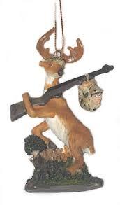 deer rifle tree ornament new