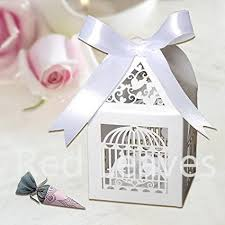 candy wedding favors 50pcs laser cut wedding birdcage favor box for candy