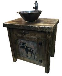 Bathroom Vanities With Bowl Sink Bathroom Vanities Solid Wood Construction Rustic Bathroom Vanities