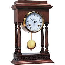 Mantel Clocks Antique Hermle Judge Mechanical Mantel Clock Antique Walnut 1 2 Hour