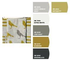 sherwin williams restrained gold finished pretty paint colors