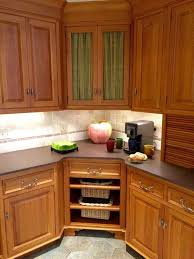 Corner Cabinet With Glass Doors Kitchen Corner Cabinet In Amazing Ideas Cabinets That Maximizes