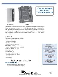 apr125 5 apr63 5 basler electric alternating current electric