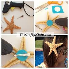 halloween hair pieces diy starfish hair clip would have never thought of the felt