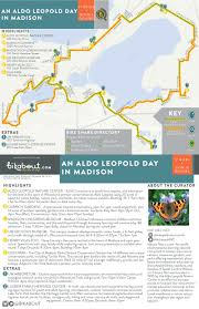 Madison Map An Aldo Leopold Day In Madison U2014 Bikabout