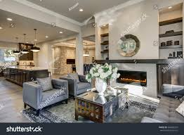 Living Room Built In Living Chic Living Room Filled Builtin Cabinets Stock Photo 564982243