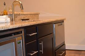 Wet Bar Dishwasher This Basement Bar Includes An Island With A Microwave Drawer And