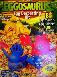 dinosaur easter eggs dinosaur easter egg decorating kit 8 eggosaurus holders 5