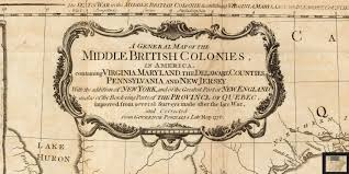 New Jersey On A Map Of The Usa by Stevenwarran Research A Map Of The Middle British Colonies In