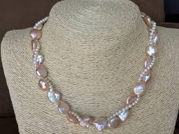 color pearl necklace images Designer aa quality hand knotted baroque pearl necklace one of a JPG