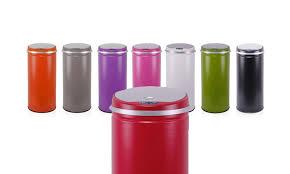 poubelle cuisine automatique poubelle automatique colorée capacité 42 l groupon shopping