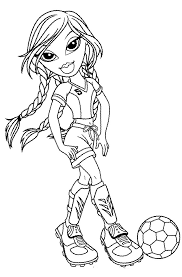 jade bratz playing football coloring pages bratz coloring pages