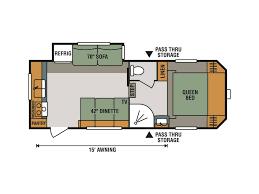 Fifth Wheel Trailers Floor Plans by 2018 Kz Rv Sportsmen 231rk Milroy Pa Rvtrader Com