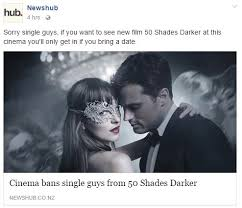 50 Shades Of Gray Meme - cinema bans single guys from 50 shades darker fifty shades of grey
