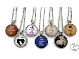 silver pendant necklace australia images Bunny glass pendant and silver necklace from rabbit toys australia jpg