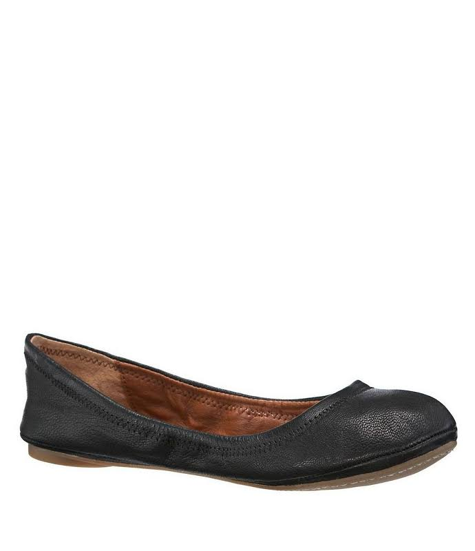 Lucky Brand Emmie Flat Black Leather