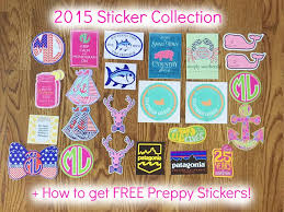 preppy decals 2015 sticker collection how to get free preppy stickers