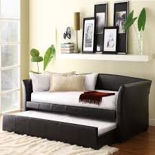 decorating black leather daybed by darvin furniture outlet with black leather daybed by darvin furniture outlet with trundle for home furniture ideas