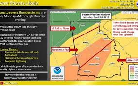 Severe Weather Map Georgia Braces For Severe Storms Hail Damaging Winds Possible