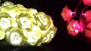 Guirlande Lumineuse Fleurs by Bouquet Lumineux 20 Roses à Led Led Ecolor Com Youtube
