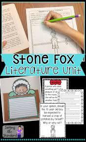 stone fox novel study opinion writing prompts internet