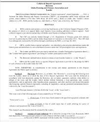 8 collateral agreement templates word pdf free u0026 premium