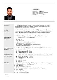 Qa Qc Engineer Resume Sample by Cv Sr Qaqc Engineer Abdul Jabbar