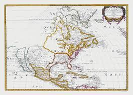 Maps North America by Old North America Map North America Sanson 1650