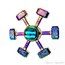 metal hammer fidget spinners rainbow thor hammer spinner zinc alloy