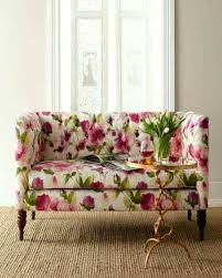 floral sofa pink green floral print couch pink green home decor