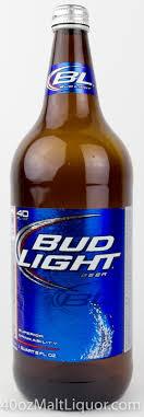 bud light bottle oz 40ozmaltliquor com bud light