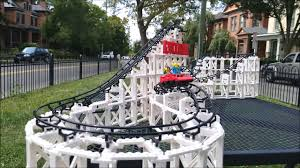 the cyclone roller coaster in slow motion youtube