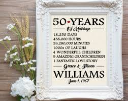 50 year anniversary gift 50 years of marriage etsy