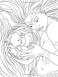 mermaid coloring pages adults coloring book